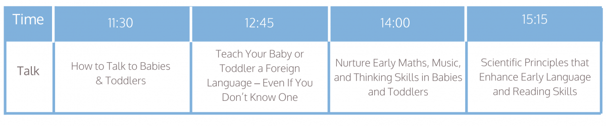 Baby To Toddler | 23-24 November 2019 | Excel London | Baby, Pregnancy & Parent Shopping Event | Dr Robert Titzer, Baby Language Expert